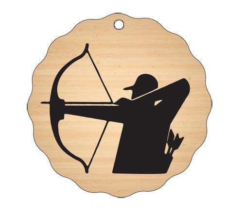 Medalja gravirana na les - LOKOSTRELEC