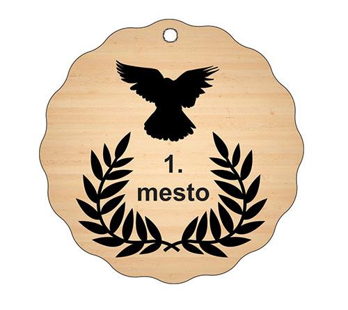 Medalja gravirana na les - BMX