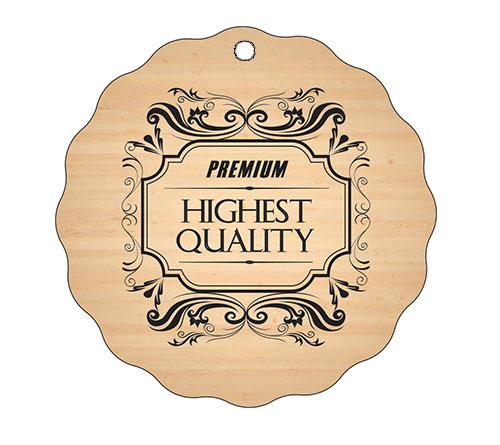 Medalja gravirana na les - PREMIUM
