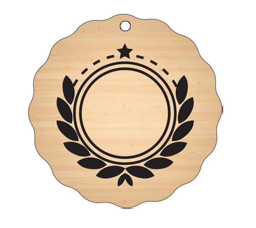 Medalja gravirana na les - PRIZNANJE