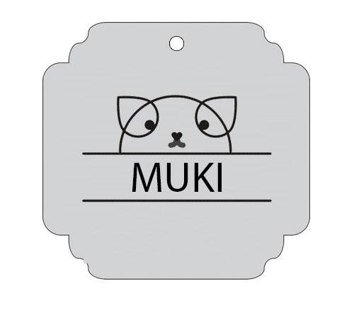 Ploščica za živali - MUCA Z IMENOM