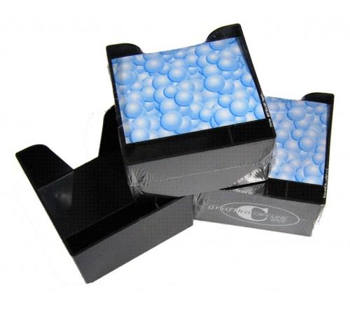 PVC črna kocka z lističi - 10 kosov