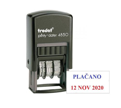TRODAT - 4850 ( plačano/prejeto/datirka )