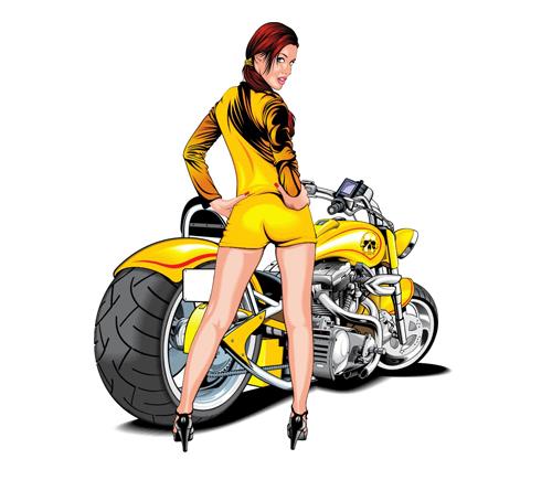 Majica - avtomoto - MOTORISTKA
